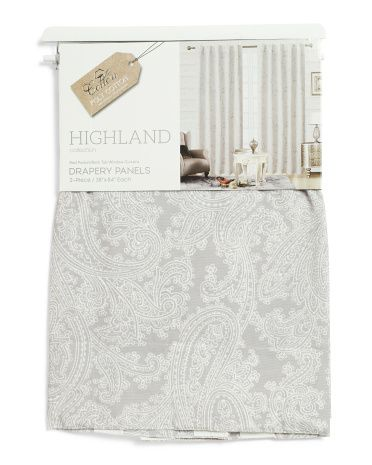 38x84 Set Of 2 Linen Look Highland Curtains Curtains Living Room