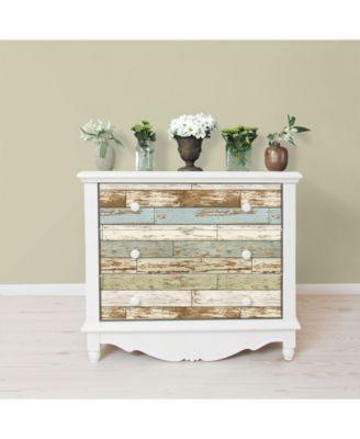 Old Salem Vintage Wood Peel And Stick Wallpaper Blue Vintage Wood Staging Furniture Home Decor