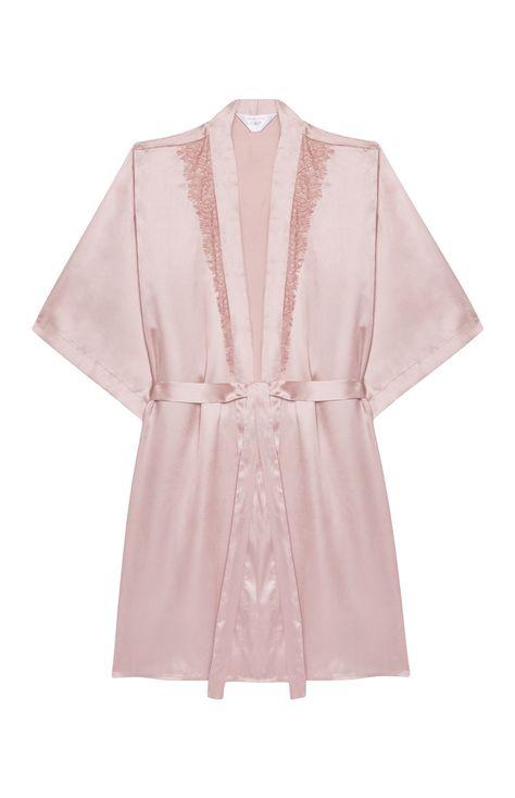 ventas calientes patrones de moda comprar lujo 12€ Primark - Bata de satén melocotón con puntilla | Moda ...
