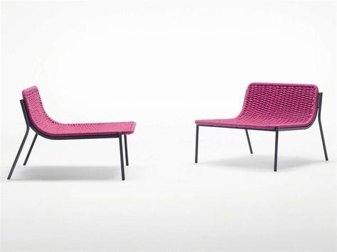 Sedie Da Esterno Design.Sedia Da Giardino In Corda Baia Collezione Aqua By Paola Lenti