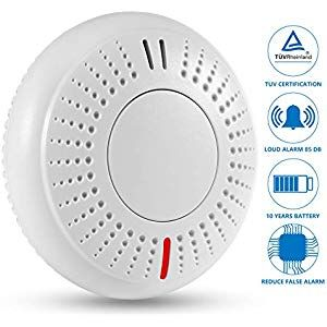 Sendowtek Fire Alarm 3s Reaction Time 10 Year Battery Life Smoke Alarm Smoke Detector With Tuv Certification En14604 Vds Fire Alarm Smoke Alarms Smoke Detector
