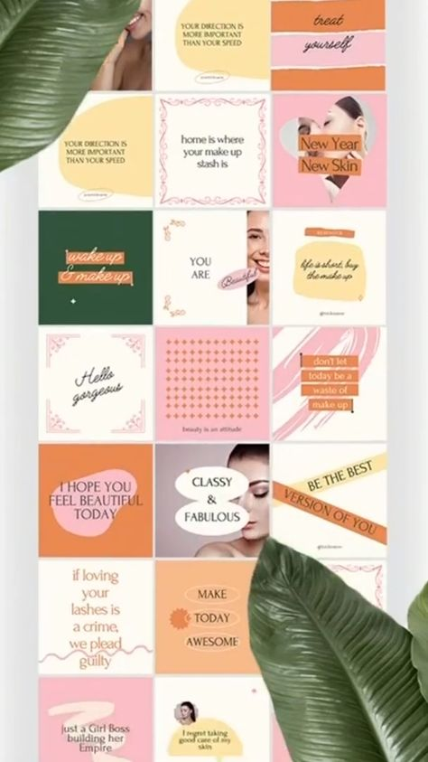Instagram Quotes Templates | Girl Boss Beauty blogger Motivational Post | Social Media Canva graphic