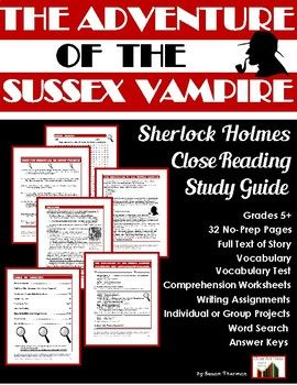 Sherlock Holmes Close Reading Study Guide: The Adventure of