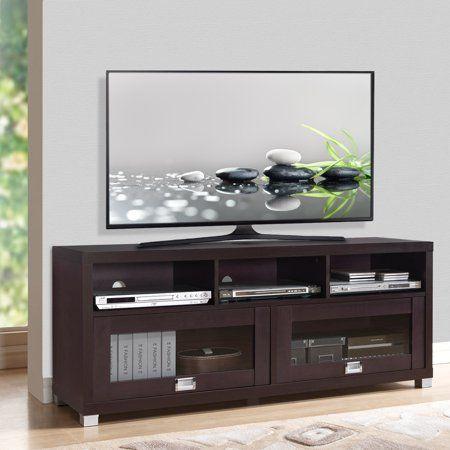Techni Mobili 58 Durbin Tv Stand For Tvs Up To 75 Espresso Walmart Com Console Furniture Entertainment Wall Units Tv Stand
