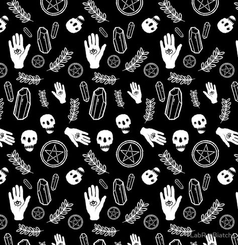 Witchy Pattern Chiffon Top By Labratbiatch Witchy Witch Aesthetic Aesthetic Desktop Wallpaper