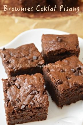 Dapur Mama Aisyah Brownies Coklat Pisang Versi Panggang Resep Makanan Penutup Hidangan Penutup Dan Brownies