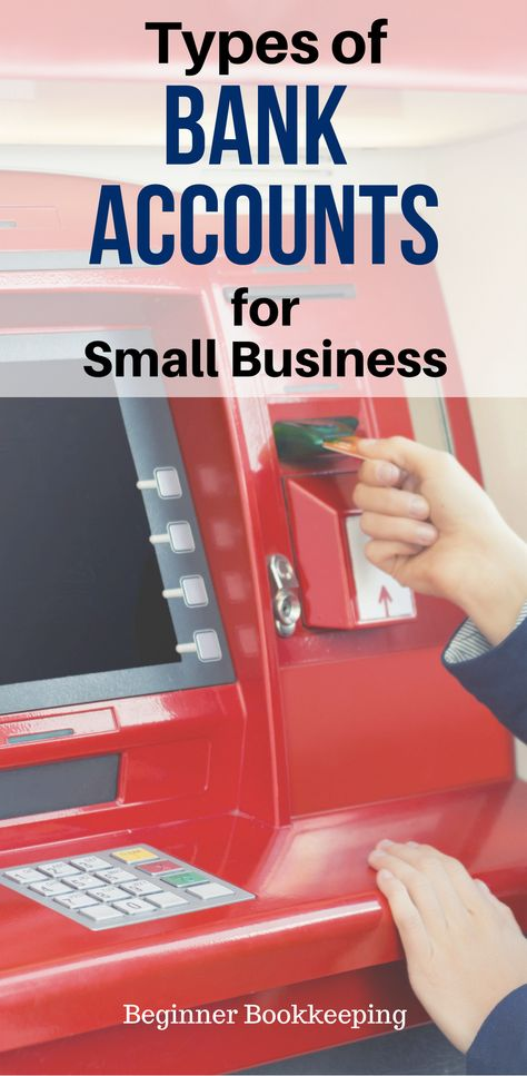 Types of bank accounts for small business