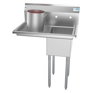 Whitehaus Collection Pearlhaus All In One Freestanding Stainless