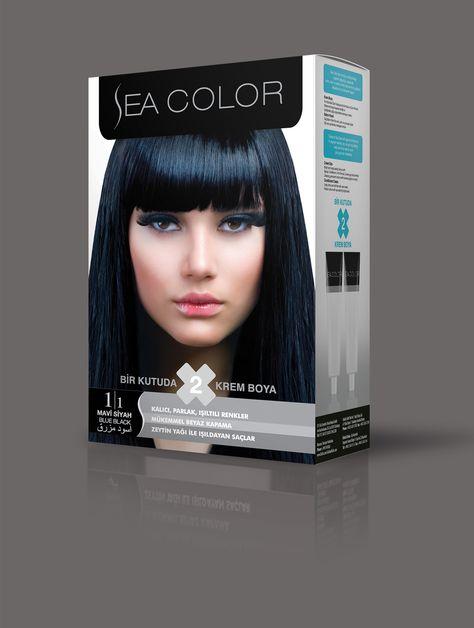 Sea Color Sac Boyasi 1 1 Mavi Siyah 2020 Sac Boyasi Sac Mavi