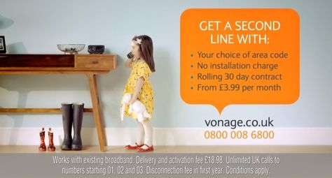 Vonage UK integrated #marketingcampaign shows benefits of a second telephone line for home workers and #SMEs