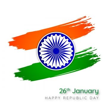 Happy Republic Day With India Brush Stroke Flag Modern Republic India Png And Vector With Transparent Background For Free Download Republic Day Republic Day Photos Independence Day Hd Wallpaper