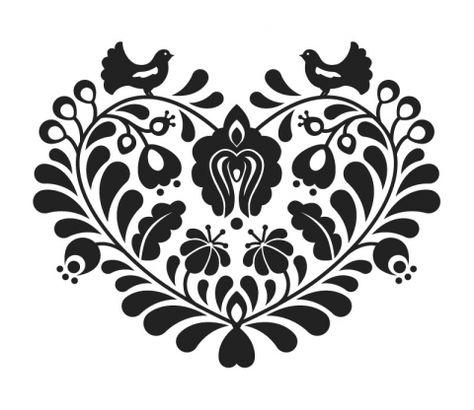 Magyaros mintás póló - Szív, Magyar motívumokkal, Ruha, divat, cipő, Női ruha, Felsőrész, póló, Meska