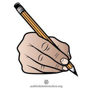 Pencil In A Hand Vector Clip Art Dark Art Drawings Art Clip Art