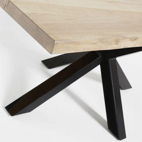 Table Argo 160 Cm Chene Hi Pieds Mobilier De Salon Table Bois