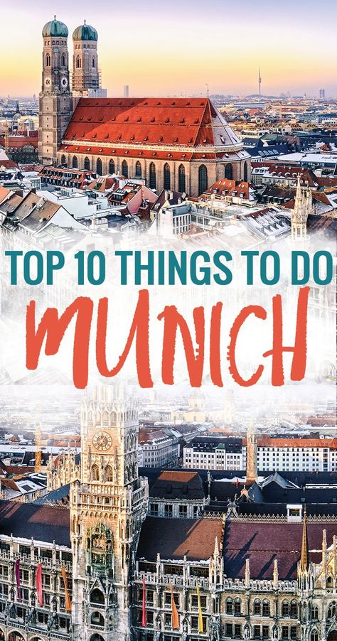 Top Ten Things to Do in Munich Germany - Looking for things to do in Munich? Want to see the Marienplatz or Allianz Stadium? Maybe you just want to visit the beer gardens like the Hofbrauhaus or the Augustiner Keller? Find out more!   Munich | Germany | Things to Do | Travel | Top 10 Things to Do | Travel Guide | Bavaria |  #munich #germany #travel