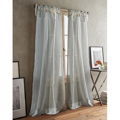 Dkny Paradox Tie Tabs Solid Sheer Curtain Drapes Sheer Curtain