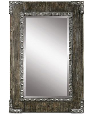 Uttermost Malton Rustic Wood Mirror Reviews All Mirrors Home