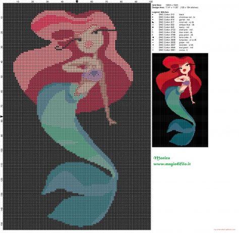 Schema punto croce Ariel