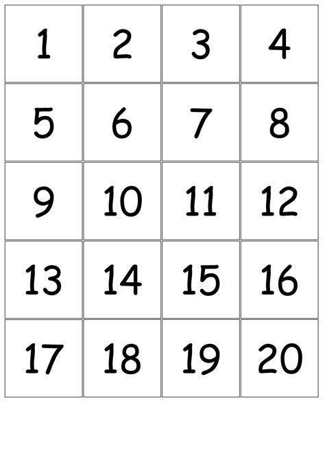 Trace Number 1 20 Worksheets Activity Shelter Large Printable Numbers Printable Numbers Free Printable Numbers