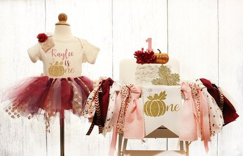Pumpkin High Chair Banner and Tutu Birthday Outfit Burgundy & Blush Pumpkin Highchair Banner, Pumpkin Burgundy and Pink Pumpkin Birthday Fall 1st Birthdays, Pumpkin 1st Birthdays, Pumpkin Birthday Parties, Pumpkin First Birthday, Baby Girl First Birthday, 1st Birthday Parties, Girl Birthday Themes, Birthday Tutu, Birthday Ideas