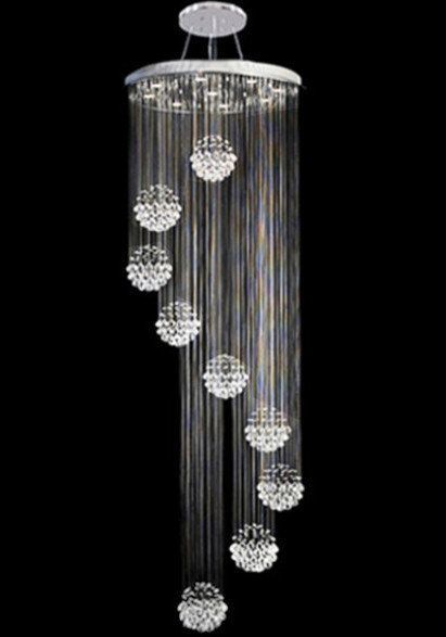 Contemporary Modern Crystal Pendant Chandelier Mc18677 Modern Crystal Chandelier Modern Chandeliers High Ceilings Modern Chandelier
