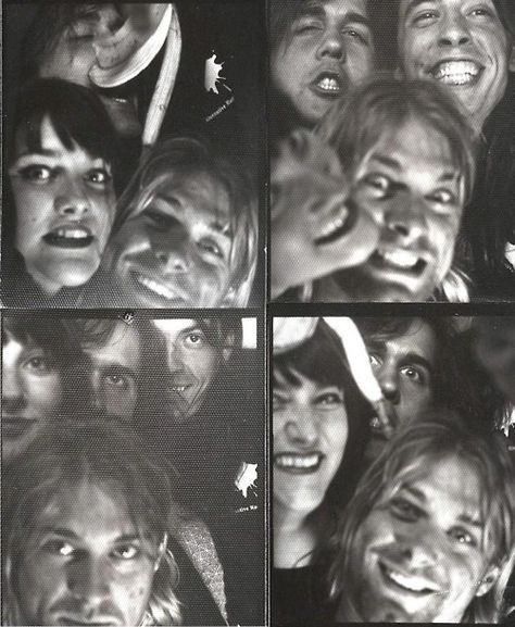 """Krist Novoselic on the fact that Courtney wouldn't let his wife Shelli attend Kurt & Courtney's wedding ceremony: """"That was fucked up, but I don't want to dwell on it. It was resolved, more or less."""" (Shelli is in the photos above along with members of Nirvana)"""