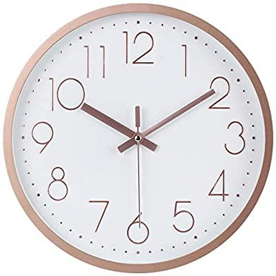 Amazon Com Jofomp Silent Wall Clock 12 Non Ticking Quartz Battery Operated Decorative Wall Clocks Modern Style For Living In 2020 Clock Wall Decor Wall Clock Clock