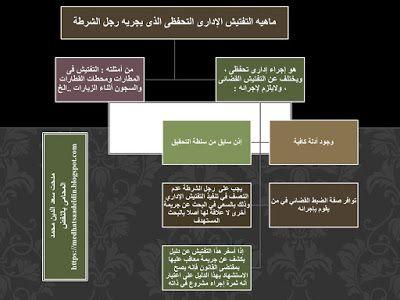 مدحت سعد الدين محمد المحامى بالنقض ماهيه التفتيش الإدارى التحفظى الذى يجريه رجل الشرط Blog Blog Posts Post
