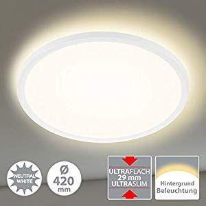 Briloner Leuchten Led Panel Deckenleuchte Deckenlampe Inkl Hintergrundbeleuch