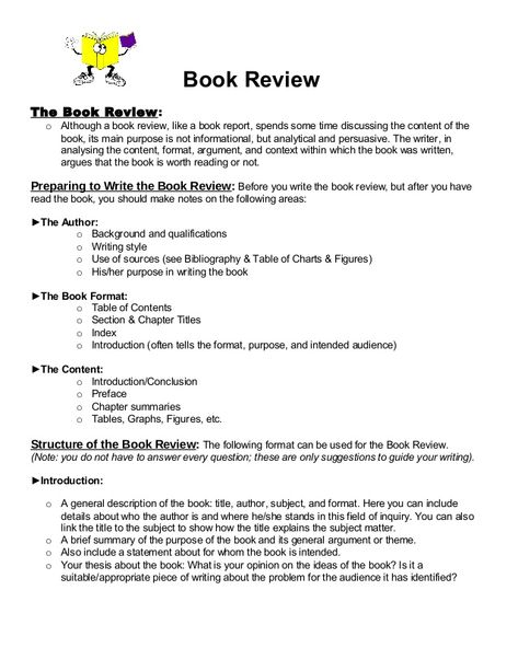 how to write a book review # 47