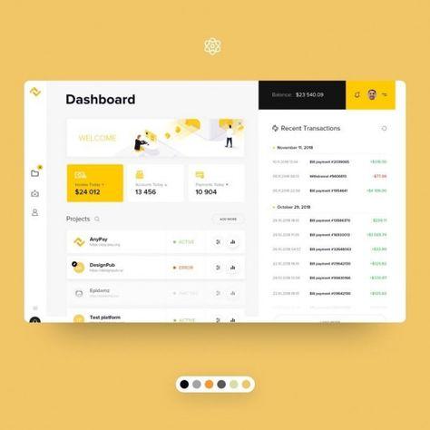 UI Lab on Instagram: Anypay Dashboard Desenvolvido pelo designer @sarts.studio #webandappdesign #web #and #app #design
