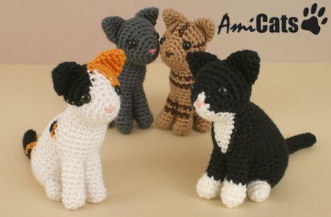 AmiCats amigurumi cat crochet patterns by PlanetJune