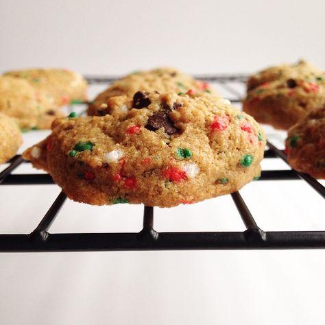 Holiday Chocolate Chunk Cookies (vegan)