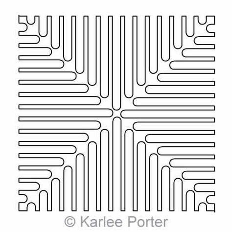 Digital Quilting Design Storm Drain Block by Karlee Porter.