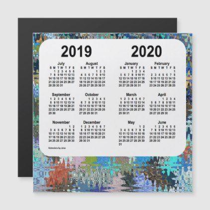 2019 2020 Crazy Quilt School Year Calendar By Janz Calendars