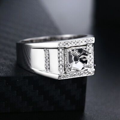 Details About Round 5 5mm To 6 5mm Men S Fine Jewelry Diamonds Semi Mount 10k White Gold Ring White Gold Rings Jewelry Fine Jewelry