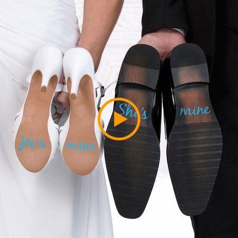 Scarpe Sposo Help Me.Lui E Mio Lei E Il Mio Adesivi Per Scarpe Da Sposa Qualcosa Di