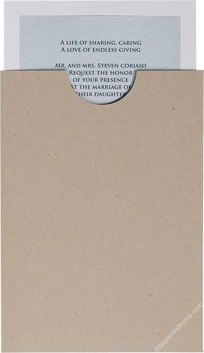 Taupe Brown Recycled Sleeve 5 X 7 Folded Cards Envelope Liners Card Stock