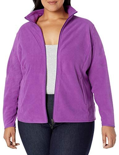 Essentials Womens Plus Size Full-Zip Polar Fleece Jacket Fleece Jacket