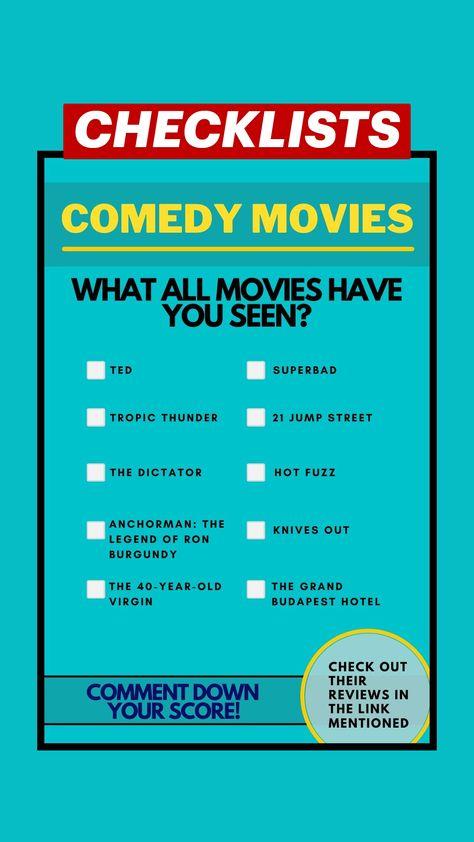 CHECKLISTS: Comedy Movies