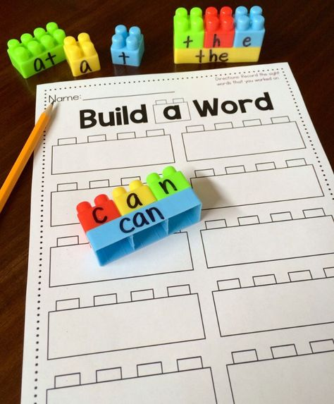 "Working on sight words in preschool, Kindergarten, and grade is a HUGE skill! That's why this ""Build a Sight Word"" activity with FREE recording sheet is so great! Click through to see how to set up your own literacy center for your classroom. Kindergarten Centers, Kindergarten Classroom, Classroom Activities, Preschool Activities, 1st Grade Centers, Kindergarten Reading Activities, 1st Grade Activities, Kindergarten Center Rotation, Kindergarten Letter Activities"
