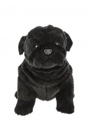 Black Pug 28cm Soft Toy From Bocchetta Black Pug Puppies Black