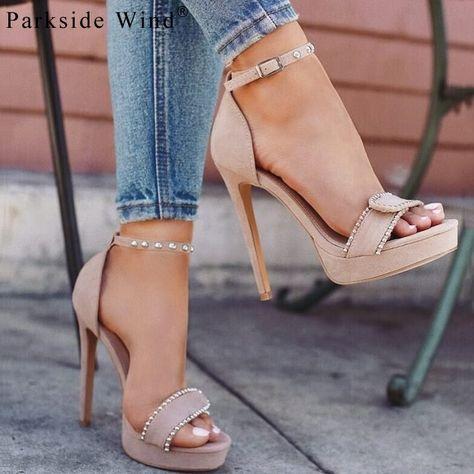 4d361bec Parkside viento rebaño sandalias de las mujeres Correa hebilla ...