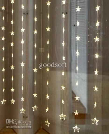 Free Shipping Five-Pointed Star Curtain Light String LED Light String Home Decorative Lights