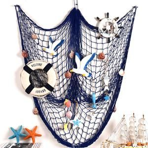 Meidding Shell Fish Netting Rope Party Theme Decor Nets Background Wall Decoration Fishing Net Sea Shell Sta Fish Net Decor Tropical Decor Party Tropical Decor