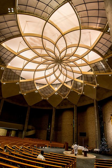 St. Ignatius Church, Kojimachi, Tokyo, Japan, beautiful roof structure/ lighting rig. could be used in meditation pod, appreciation of nature