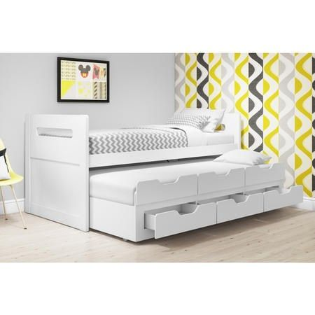 Matisse White Captain S Guest Bed With Storage Trundle Included