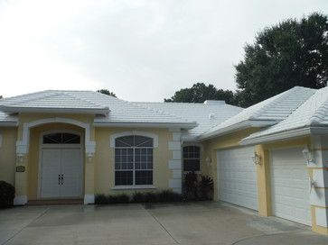 Reroof By Mark Kaufman Roofing Eagle Bel Air Tile (White On White)