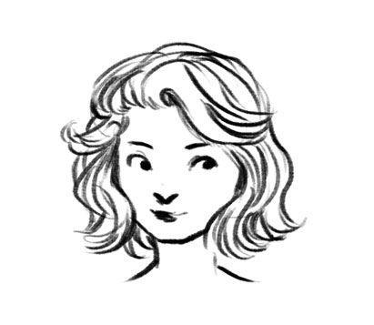 Drawing Hair Tips Short Hair Drawing How To Draw Hair Girl Hair Drawing