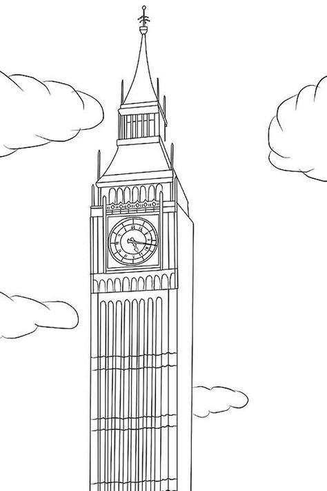 Big Ben Big Ben Is In London Coloring Page Big Ben Is In London